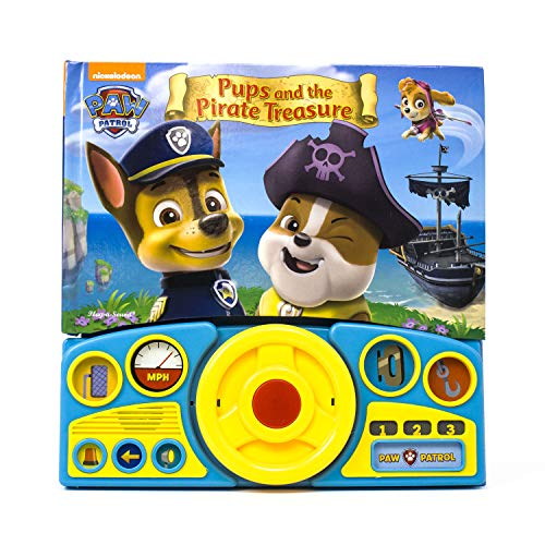 Paw Patrol - Pups & the Pirate Treasure Sound Book with Interactive Steering Wheel - PI Kids]()