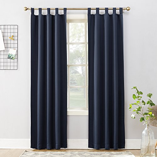 - Sun Zero Easton Blackout Energy Effcient Tab Top Curtain Panel, 40