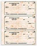 Three to a Page Secretary Deskbook Check (Antique)