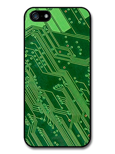 Cool Cute Computer Board Chip Effect Style in Green case for iPhone 5 5S