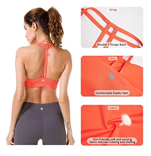Queenie Doppia Con Donna A Wirefree Supporto Reggiseno Ke Posteriore T Arancione Yoga rHrw7