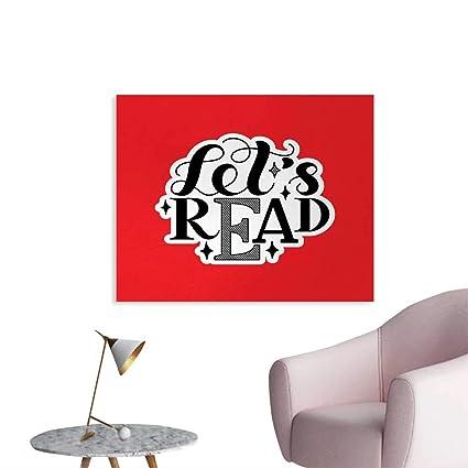 Amazon Com Tudouhoho Book Wall Poster Lets Read