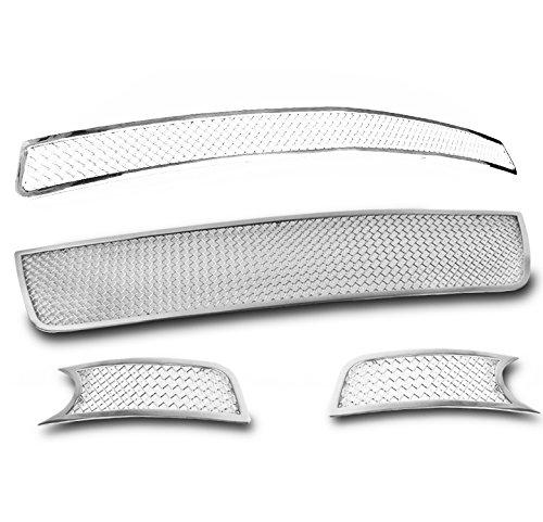 - ZMAUTOPARTS Chevy Impala Upper + Bumper + Fog Light Stainless Steel Mesh Grille Insert