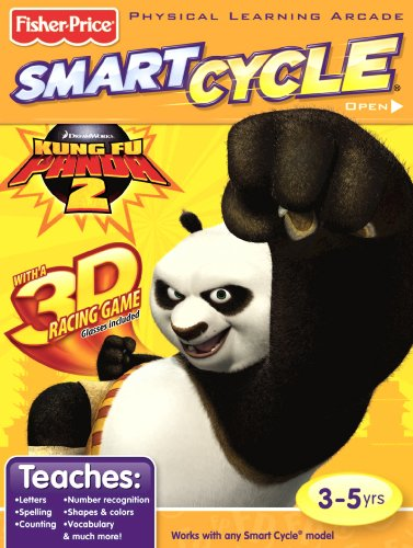 (Fisher-Price Smart Cycle 3D [Old Version] DreamWorks Kung Fu Panda Software Cartridge)