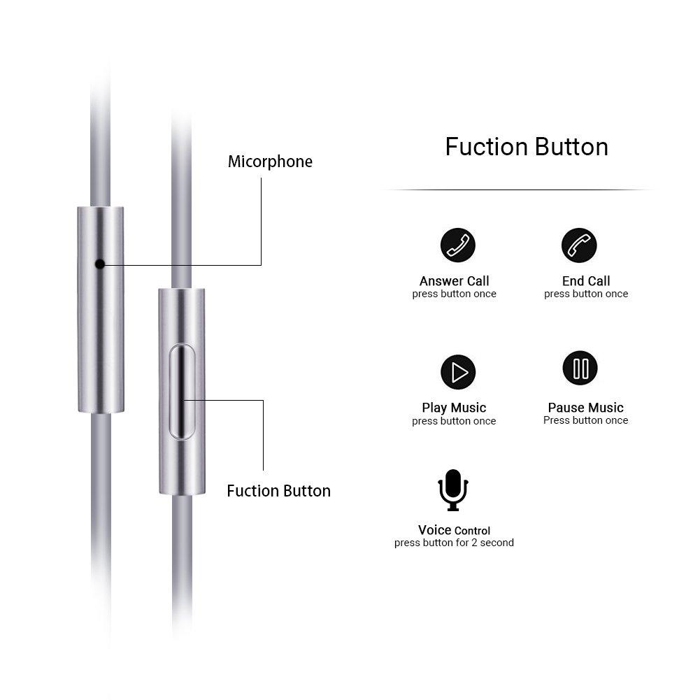 Amazon.com: Auriculares in-ear con cable HD Bass estéreo con ...