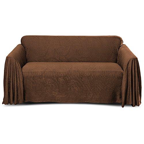 (Stylemaster Alexandria Furniture Throw, Love SEAT, Chocolate)