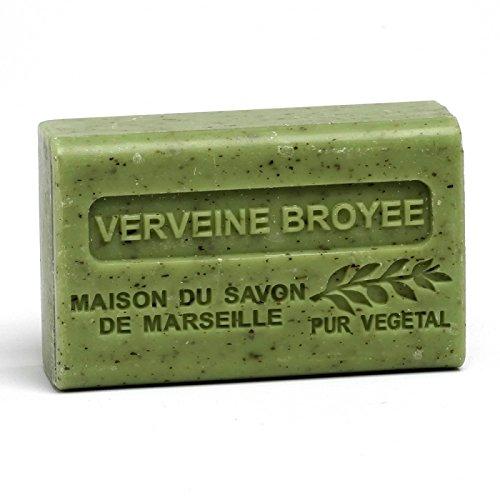 Maison du Savon de Marseille - French Soap made with Organic Shea Butter - Crushed Verbena Fragrance - 125 Gram Bar