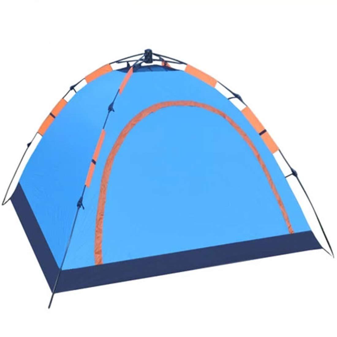 Sakuldes Automatisches Zelt der Person 4 oder 3 für Camping im Freien (Farbe : Blau)