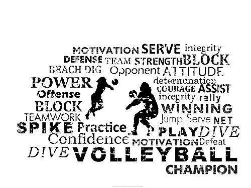 Volleyball Text by Sports Mania Art Print