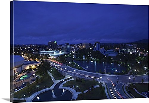 Canvas On Demand Premium Thick-Wrap Canvas Wall Art Print entitled High angle view of a city, Big Spring Park, Huntsville, Madison County, Alabama (Furniture Huntsville Al)