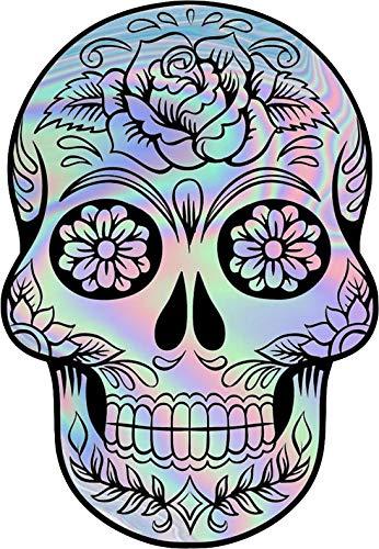 Holographic Sugar Skull Vinyl Decal Wall Laptop Bumper Sticker 5