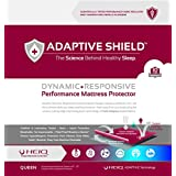 Adaptive Shield Premium Performance Mattress Protector - Lab Tested Allergy Free and Waterproof, Vinyl Free Noiseless Sleep, Crinkle Free, Machine Washable, and Compatible with All Mattresses (Queen)