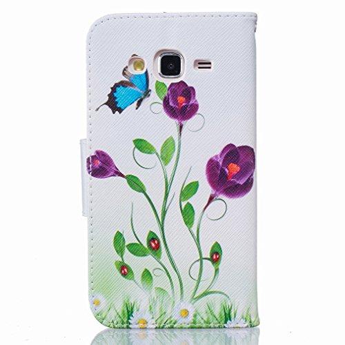 Custodia Samsung Galaxy J5 J500 Cover Case, Ougger Portafoglio PU Pelle Magnetico Stand Morbido Silicone Flip Bumper Protettivo Gomma Shell Borsa Custodie con Slot per Schede, Design 7