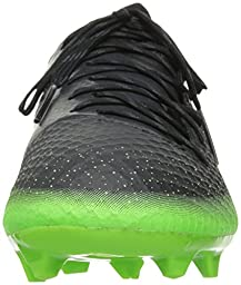 adidas Performance Men\'s Messi 16.2 FG Soccer Shoe,Dark Grey/Metallic Silver/Neon Green,10 M US