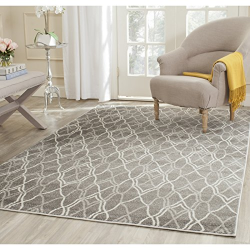 Safavieh Amherst Collection AMT417C Grey And Light Grey Indoor/ Outdoor  Square Area Rug (5u0027 Square)