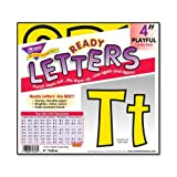 Wholesale CASE of 25 - Trend Playful Uppercase/Lowercase Ready Letters-Letters, Punch Out, Playful, 4'', 3/PK, Yellow