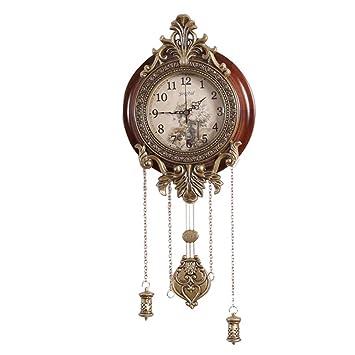 Amazon.com: Reloj de pared para el hogar, estilo europeo, de ...