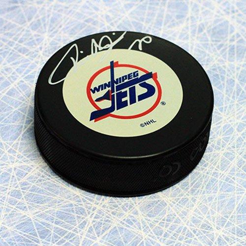 Tie Domi Winnipeg Jets Autographed Hockey Puck - Signed Hockey Pucks - Jets Winnipeg Signed