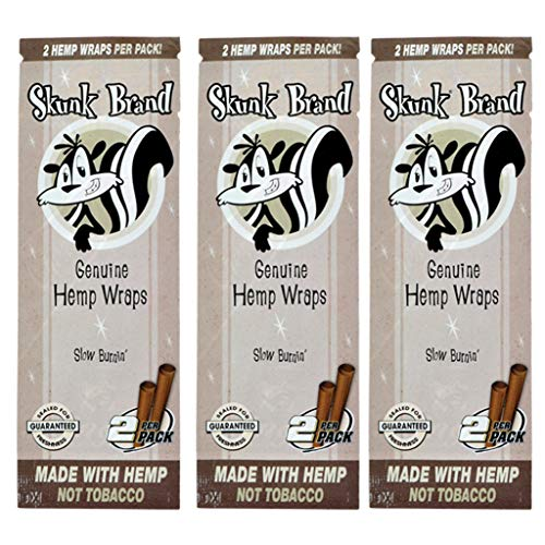Skunk Brand Hemp Wraps - 2 Wraps Per Pack