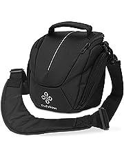 Premium-Kameratasche für Deine Kamera I Hochwertige Fototasche mit Netzfach in Schwarz