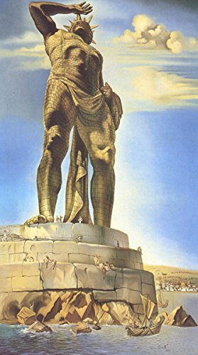 Gifts Delight Laminated 14x26 Poster: Salvador Dali - Colossus of Rhodes Seven Ancient Wonders of The World