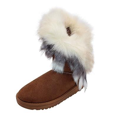 Damenstiefel Stiefeletten GEFÜTTERT Flache Boots Schuhe