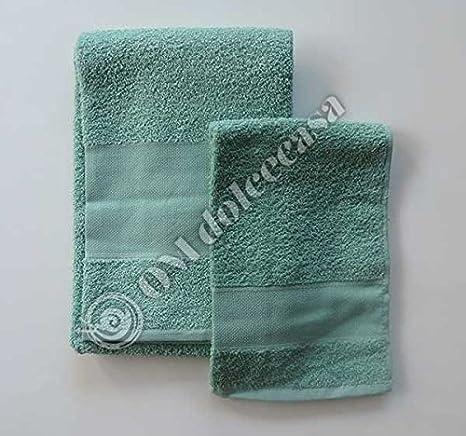 Juego Baño Esponjas Esponja salvietta Viso + invitados 100% Esponja con inserto de tela aida para punto a punto de cruz color verde: Amazon.es: Hogar