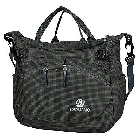 Vbiger Messenger Bag Handbags For Women Waterproof Nylon Fabric Shoulder Bag (Black)