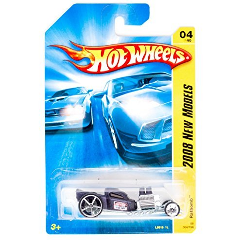 - Hot Wheels Ratbomb Primer Purple, Chrome Block 'n Pipes Collector 1-64 2008