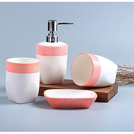 DecentGadget Stylish Ceramic Bathroom Accessory Sets