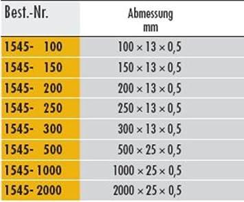 Elora 1545002501000 Flexible Steel Rule 1545-250 mm Silver