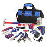 WORKPRO Tool Kit Home Repairing Set with 3.6V Rechargeable Screwdriver and Tool Bag 125-piece