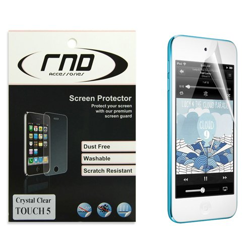 RND Accessories All-In-One Screen Protectors for Apple iPod Touch (5th Generation) - Retail Packaging - Ultra Crystal Clear (Invisibleshield Ipod Touch 5)