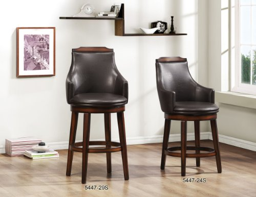 51MpXDcMgGL - Homelegance-Bayshore-Swivel-Counter-Height-Chairs-Set-of-2