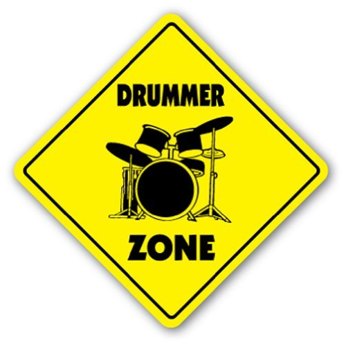 Drummer Zone Sign Drum Sticks Musician Band Gift Rock Play Music Lessons ()