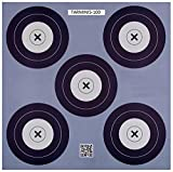 .30-06 Outdoors 5 Spot Mini Paper Target (100 Count), Blue