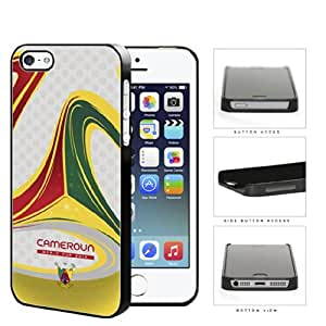 Cameroon Brazuca Ball Print World Cup 2014 Soccer MLS Sports Red Green Yellow NUE Designs Hard Snap on Cell Phone Case Cover iPhone i5 5s by lolosakes