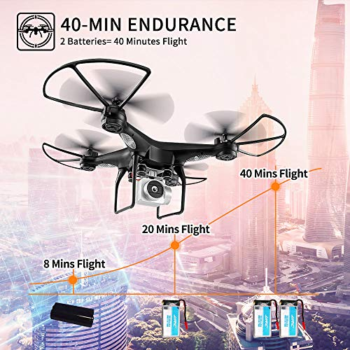 JJRC H68 RC Drone 40MINS Longer Flight Time Quadcopter with 720P Camera FPV Wifi
