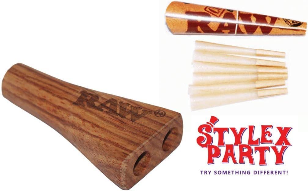 RAW doble barril & Raw Pack de conos pre hecho auténtico fumar ...