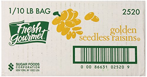 Fresh Gourmet Golden Seedless Raisins, 10 Pound