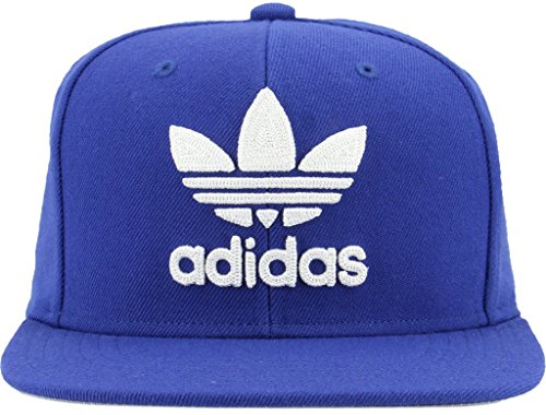 adidas Men's Originals Snapback Flatbrim Cap, Collegiate Royal Blue/White, One Size -