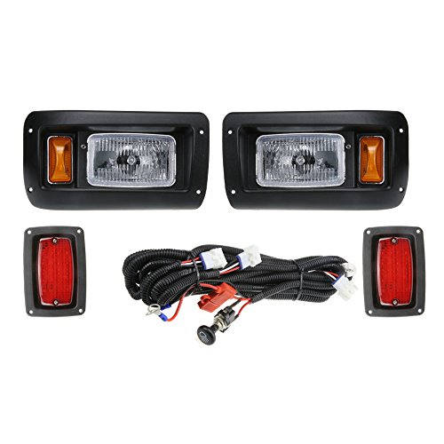 1993 Light (Club Car DS Golf Cart Headlight and LED Tail Light Kit - 1993 & Up)