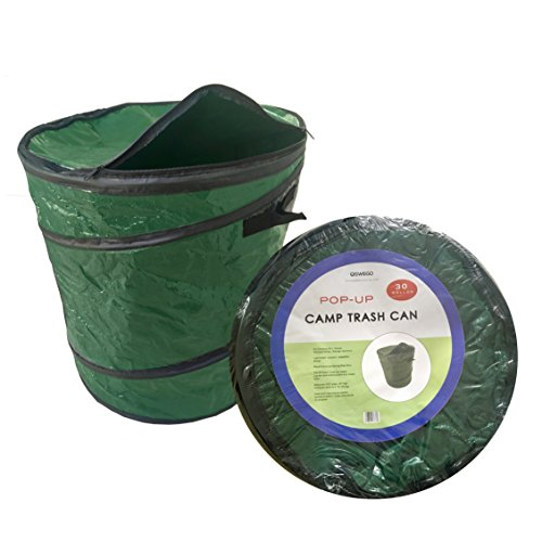 Oswego 30 Gallon Collapsible Camping Trash Recycle Cans (Olive Green, 1) by Oswego
