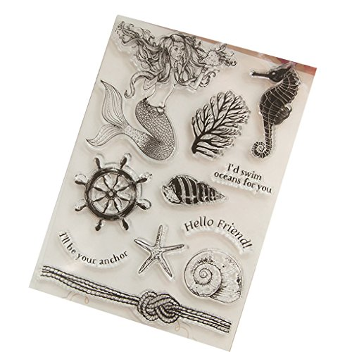 ❤JaneMo New Arriving Clear Stamps Fish Transparent Silicone Clear Rubber Stamp Cling Diary Scrapbooking DIY Art Craft Decoration