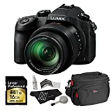 Panasonic Lumix DMC-FZ1000 4K QFHD/HD 16X Long Zoom Digital Camera (Black) + Panasonic 16 GB UH3 SD Card + Camera Bag + Camera Cleaning Kit For Sale