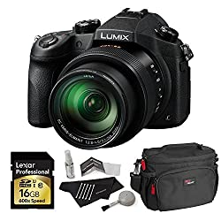 Panasonic Lumix Dmc-fz1000 4k Qfhdhd 16x Long Zoom Digital Camera (Black) + Panasonic 16 Gb Uh3 Sd Card + Camera Bag + Camera Cleaning Kit