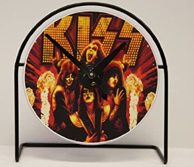 "Kiss Picture CD Clock That Plays The Song ""Rock N Roll All Nite"""