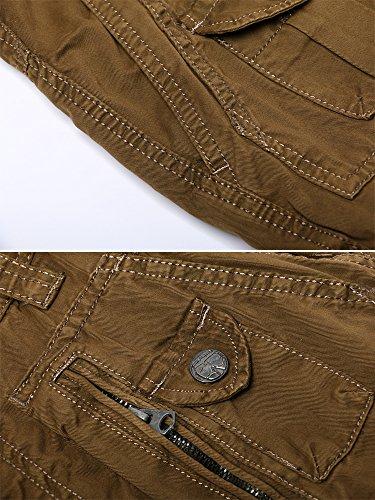 Cafe Poches Ochenta En 3380 Cargo Mince Pantalon Coton Type Multi Homme AAp7qwv