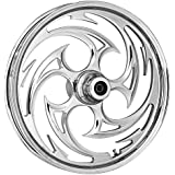 """RC Components Savage Chrome 23"""" Front and Rear Wheel Package for 2009 & Newer Harley-Davidson Touring models with ABS brakes - RCWP23-09ABS-SVAG"""
