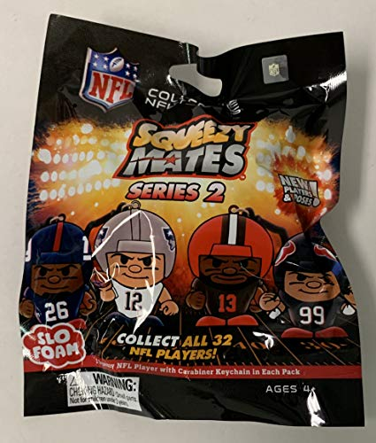 NFL SQUEEZY MATES SERIES 2 SLO FOAM COLLECTIBLE NFL FIGURES BLIND BAG SEALED! from Party Animal